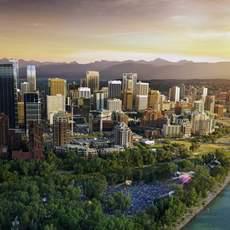 Calgary Folkfest Skyline