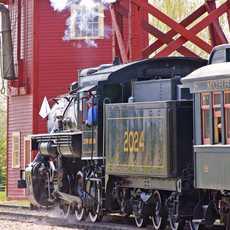 Historischer Zug im Heritage Park