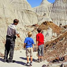 Fuehrung im Dinosaur Provincial Park