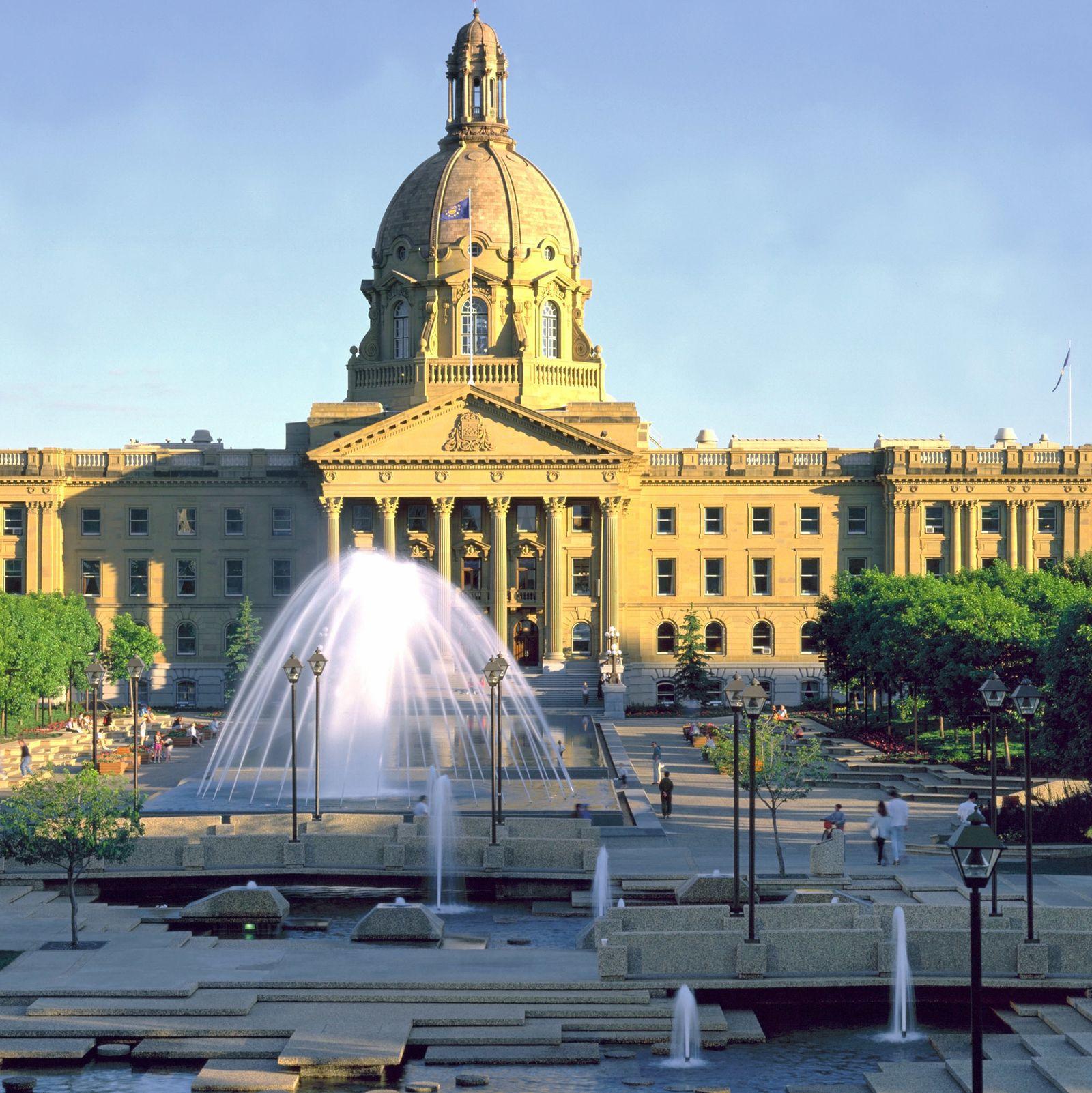 Das Alberta Legislature Building in Edmonton