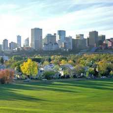 Edmonton Downtown im Frühling