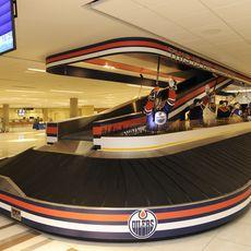Ein Gepäckband des Adrian Warchola Flughafen in Edmonton