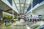 """Der Wartebereich am Flughafen sieht mit der """"Living Wall"""" richtig idyllisch aus und macht das Warten angenehmer."""
