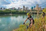 Selbst Mountainbiker kommen hier in Edmonton auf ihre Kosten.