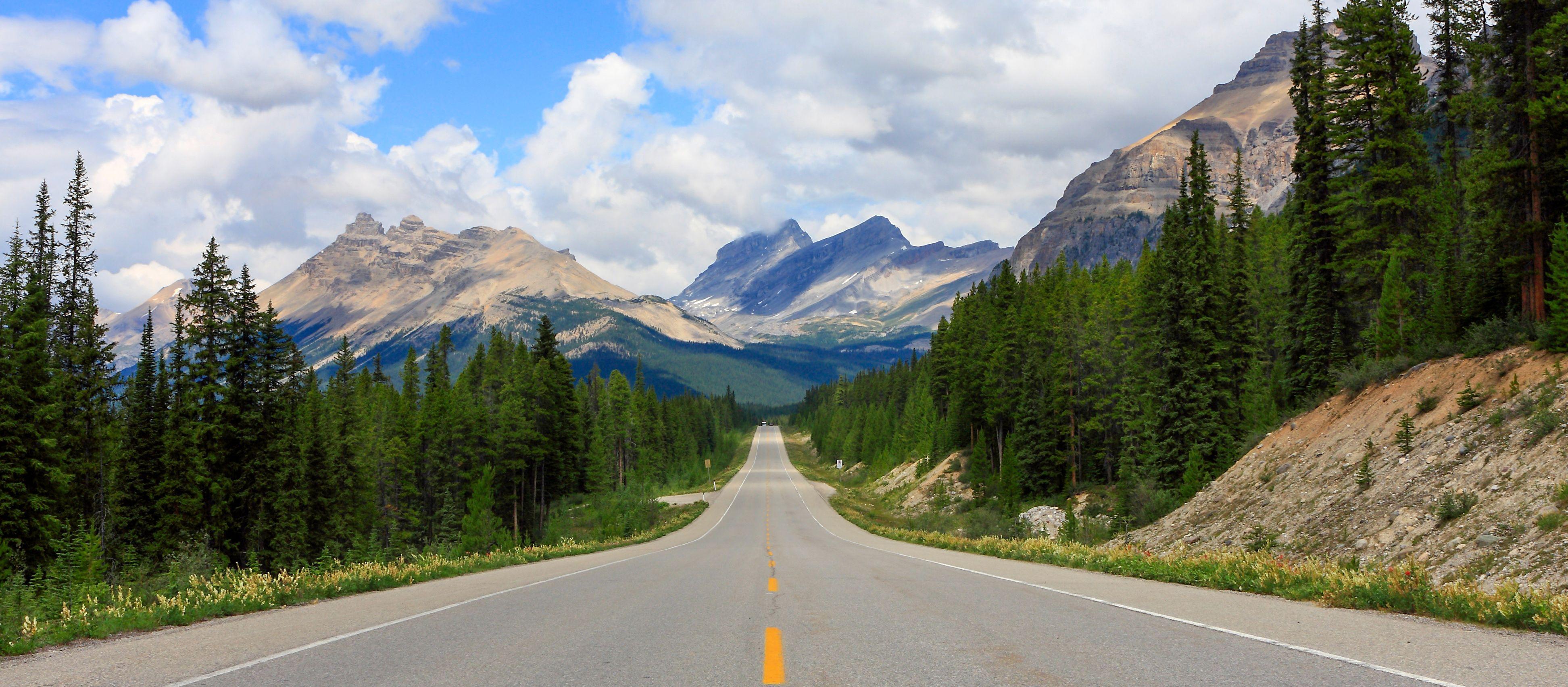 Auf dem Icefields Parkway im Jasper National Park, Alberta