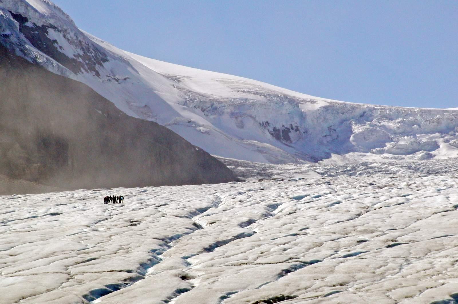 Auf dem Athabasca Glacier