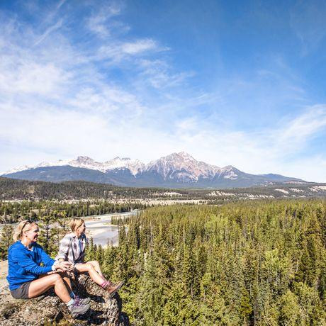 Pause machen vom Wandern im Jasper Nationalpark