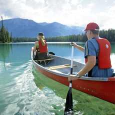 Kanu auf dem Jasper National Park
