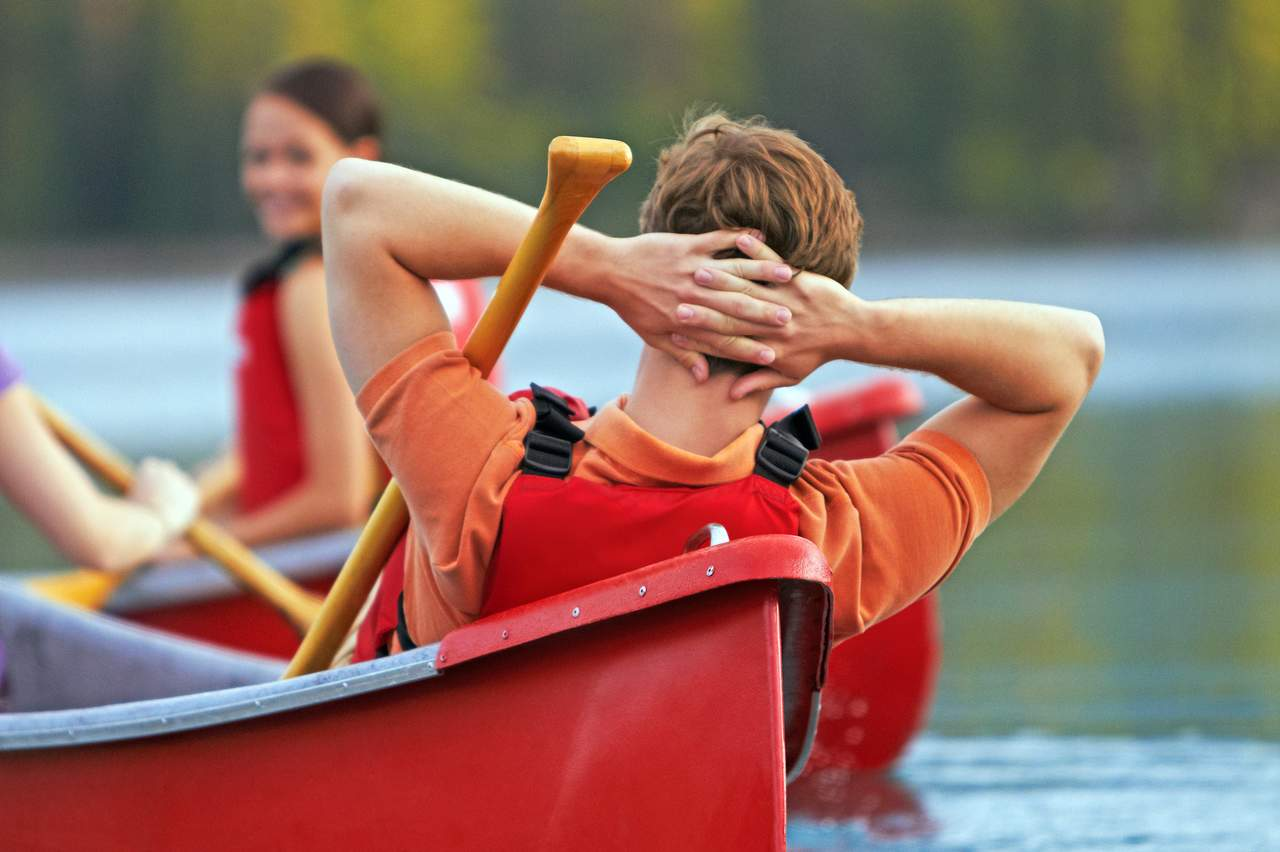 Entspannung im Kanu