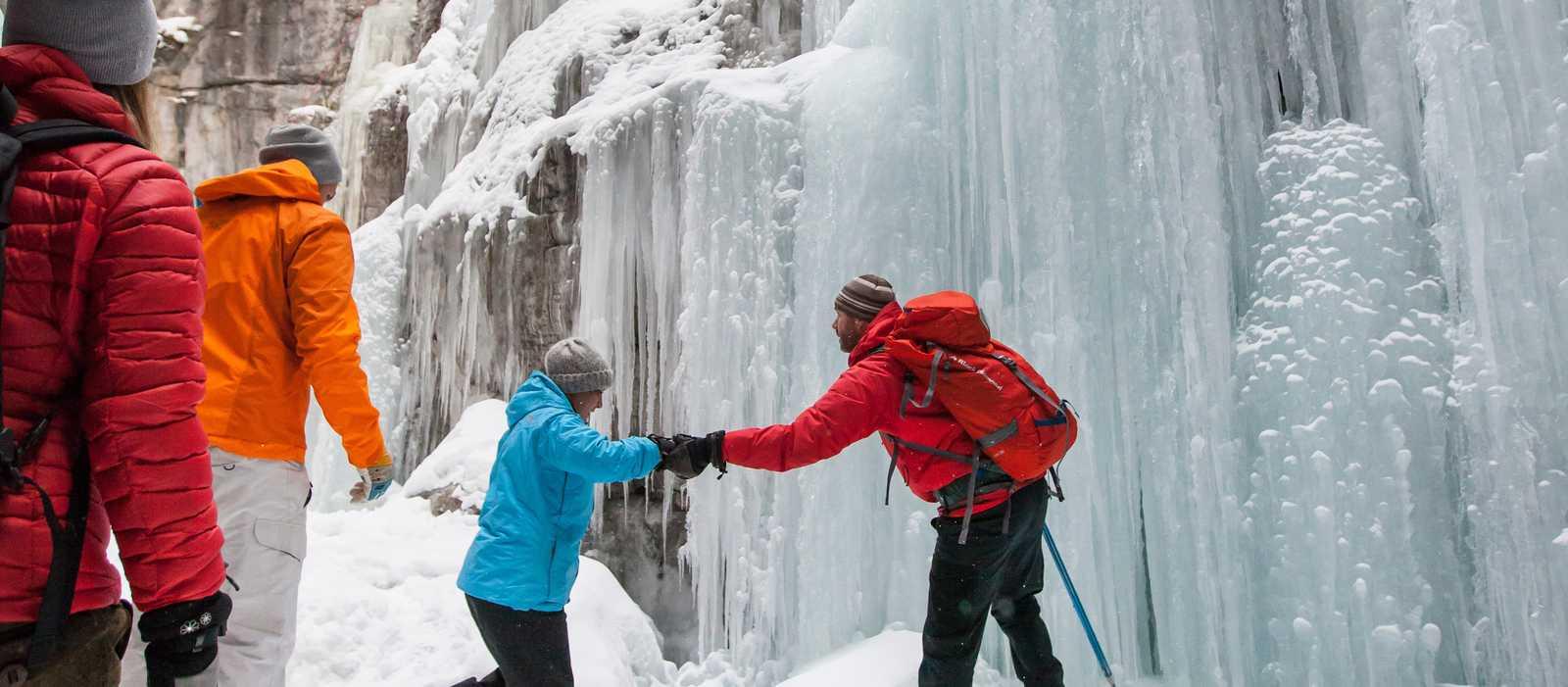 Icewalk im Maligne Canyon, Alberta