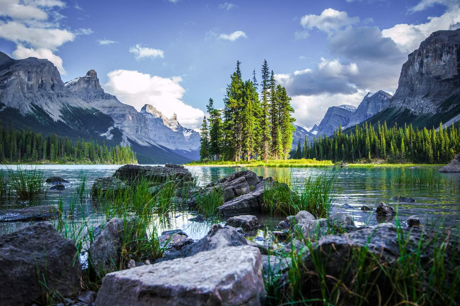Der Maligne Lake im Jasper National Park