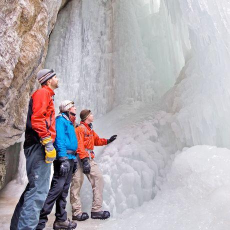Eiswandern im Maligne Canyon