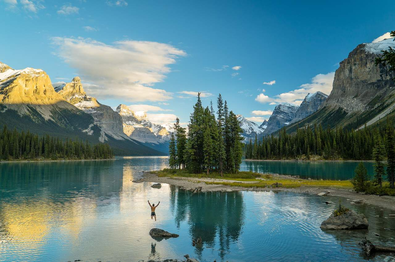 Der Maligne Lake im Jasper National Park