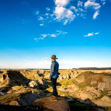 Overview Dinosaur Provincial Park and UNESCO World Heritage Site