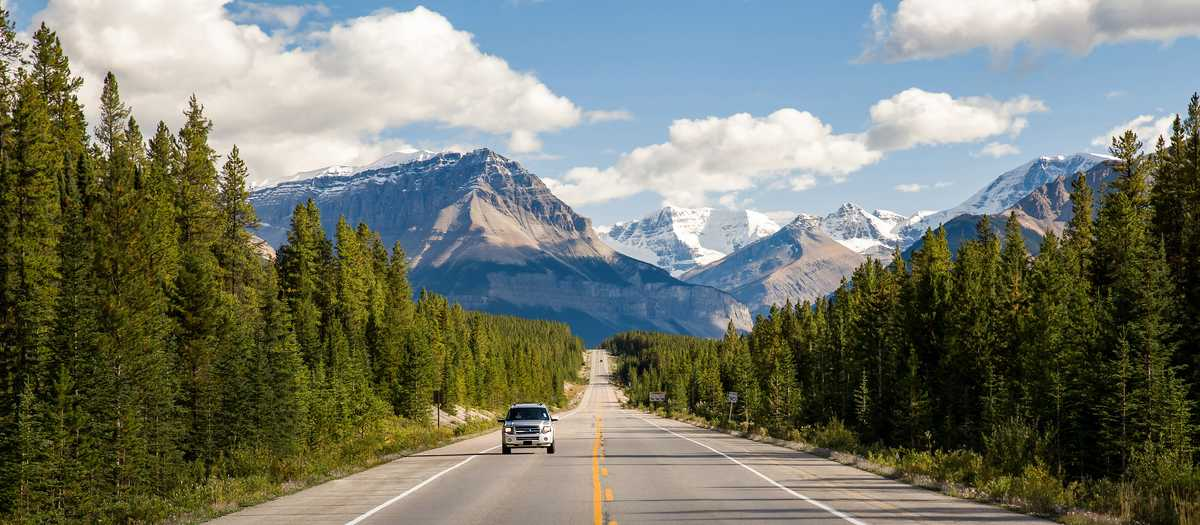 Auf der Straße durch den Jasper Nationalpark, Alberta