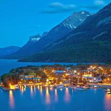 Nacht im Waterton Lakes National Park