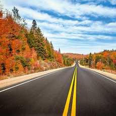 Quer durch das herbstliche Kanada auf dem Highway 1