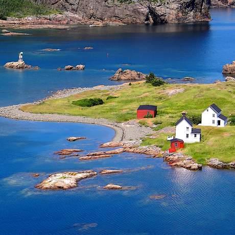 Häuser auf einer Insel, Neufundland