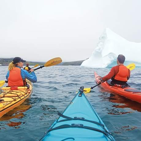 Kajaktour zu den Eisbergen