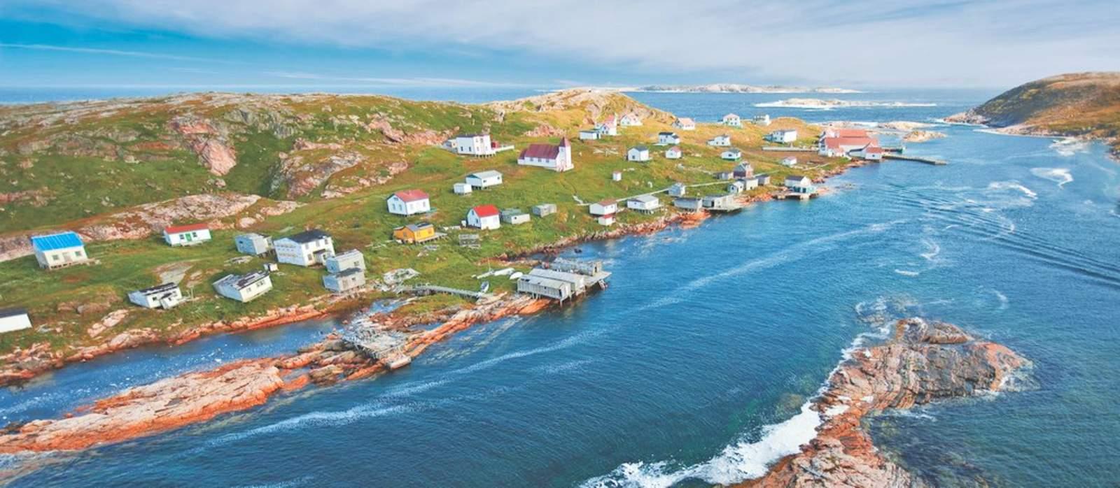 Blick ueber Battle Harbour