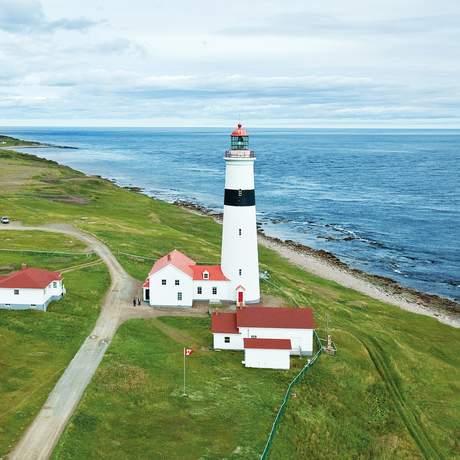 Point Amour Lighthouse in der Provincial Historic Site, Labrador