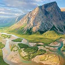 Blick auf die Torngat Mountains