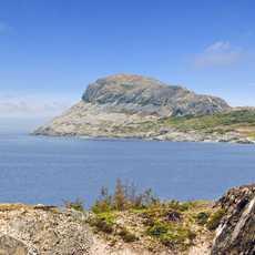 Blick auf den Brimstone Head, Fogo Island