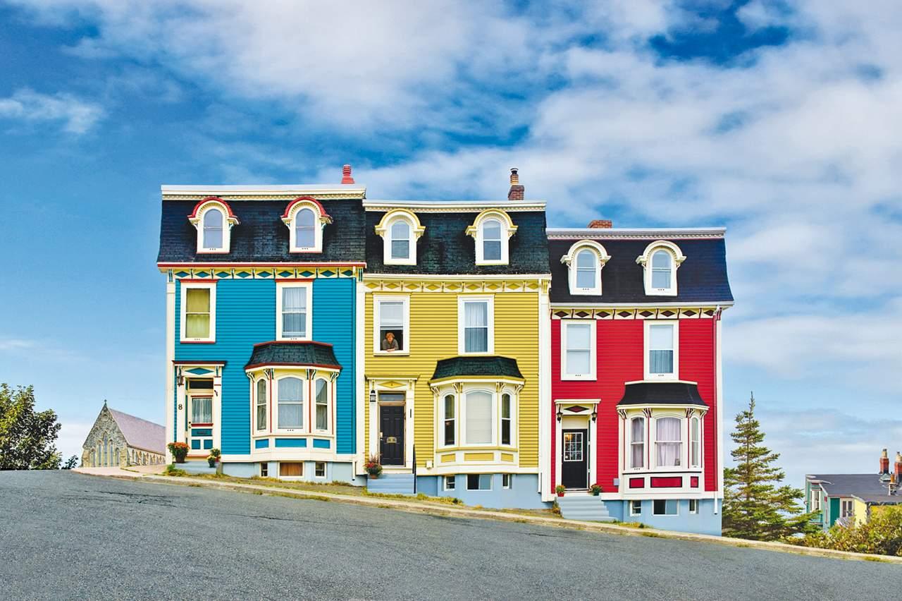 Bunte Häuser in St. John's