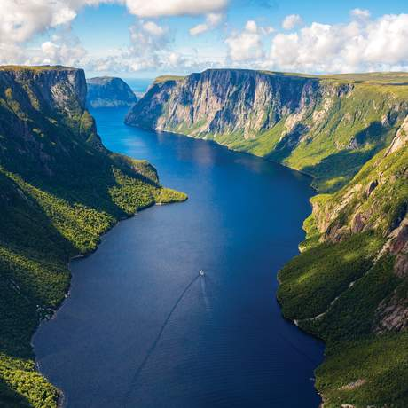 Der Western Brook Pond Fjord im Gros Morne Nationalpark, Neufundland