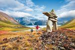 Bei Wanderungen in Neufundland & Labrador begegnet man immer wieder den faszinierenden Inukshuk-Steinfiguren