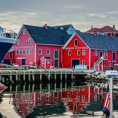 Der hafen von Lunenburg in Nova Scotia, Kanada