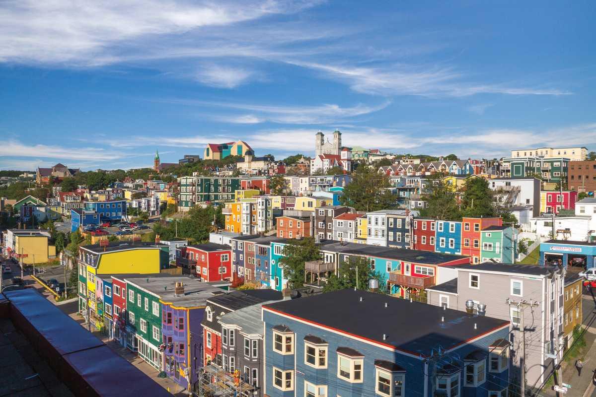 Blick über St. John's