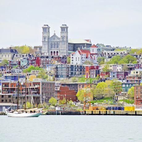 Blick auf den Hafen von St. John's