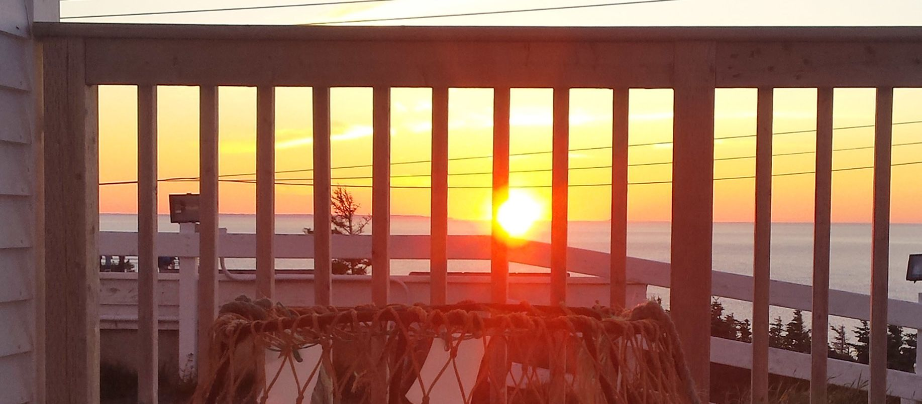 Sonnenuntergang am Long Point Lighthouse