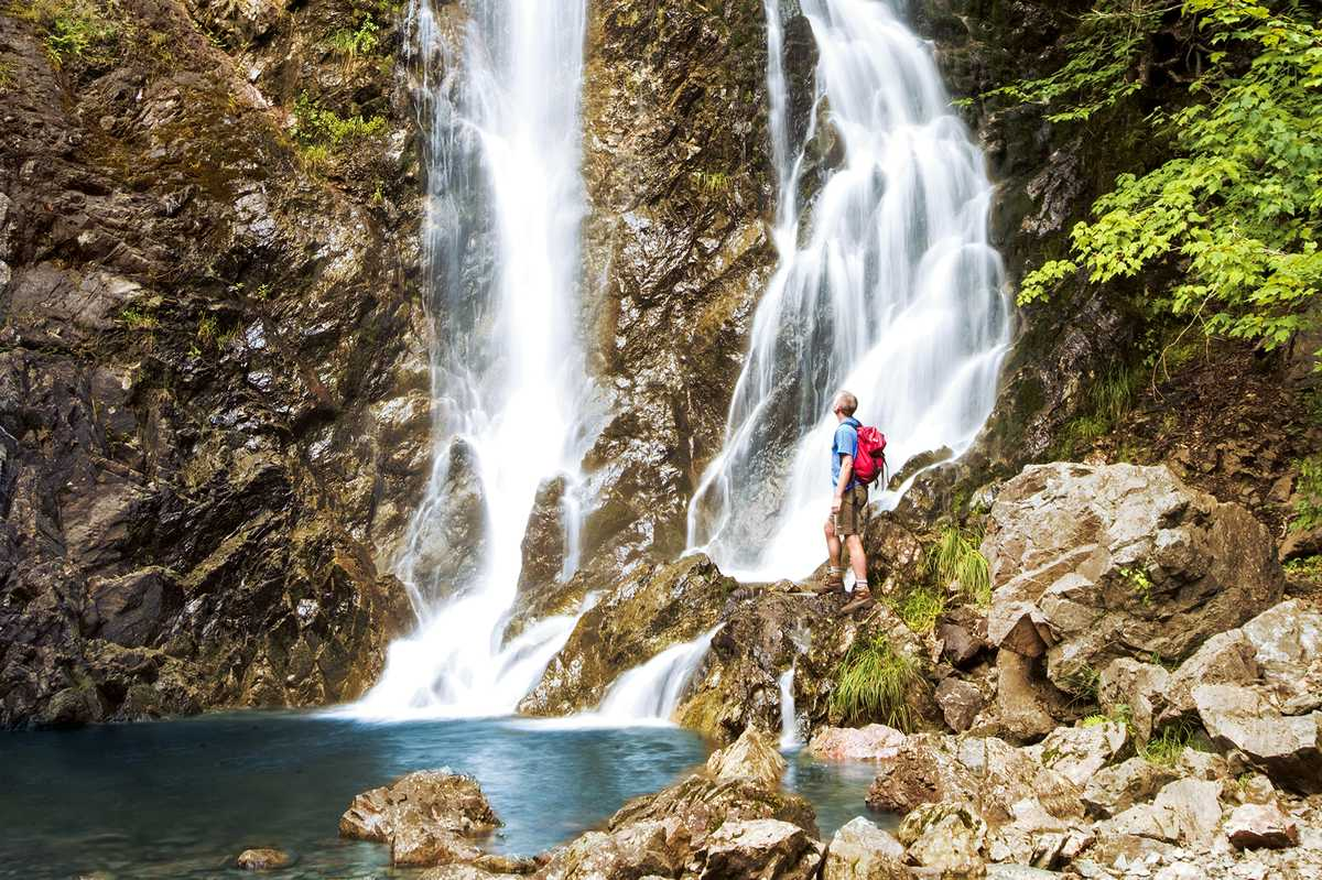 Wasserfall im Fundy Nationalpark in New Brunswick, Kanada