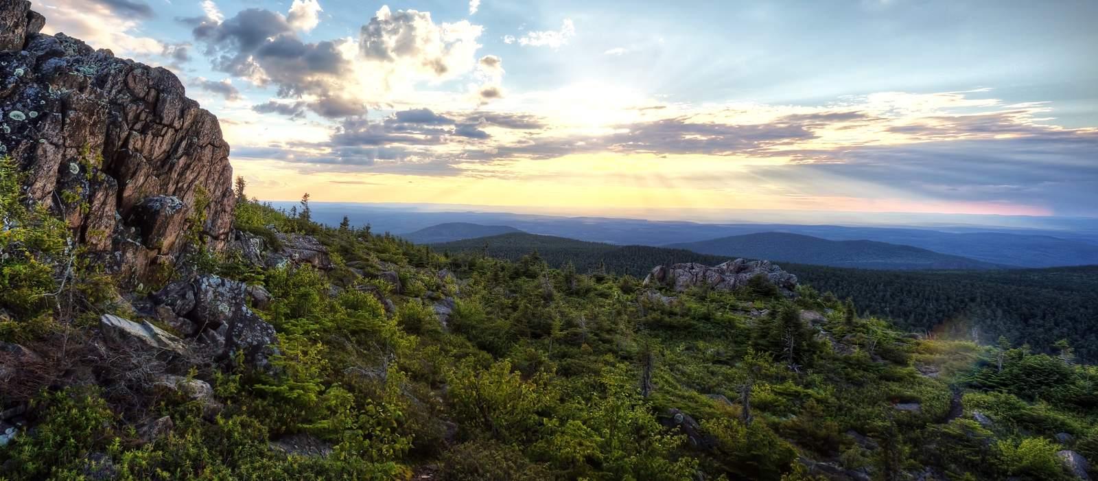 Wanderer auf dem Mount Carleton
