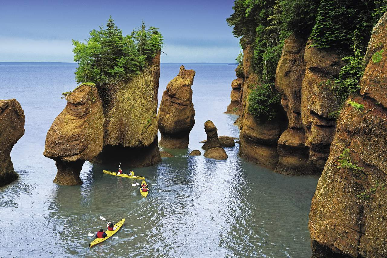 Flut an den Hopewell Rocks