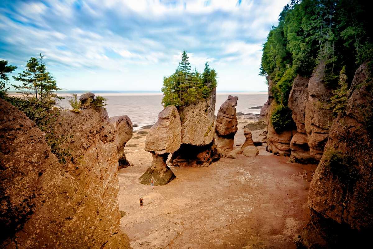 Die Hopewell Rocks in New Brunswick, Kanada