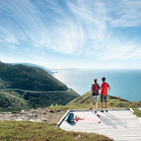 Aussichtsplattform am Cabot Trail in Nova Scotia
