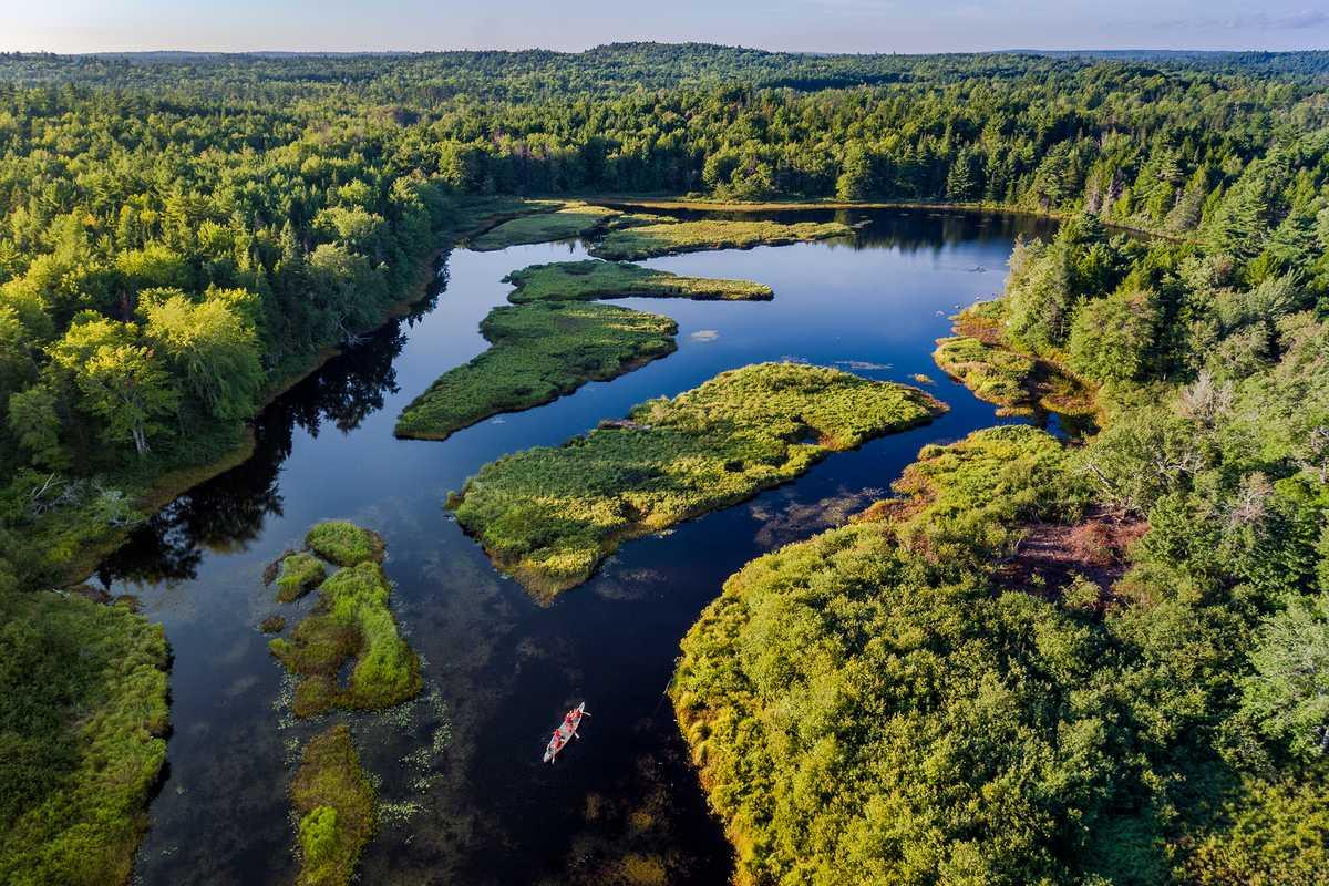 Aublick auf den Kejimkujik-Nationalpark in Kanada