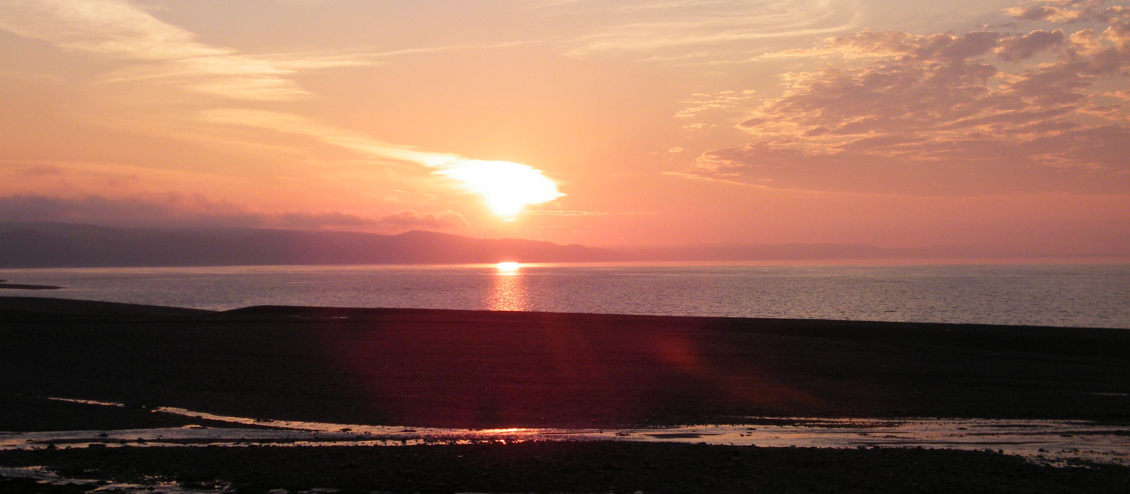 Sonnenaufgang direkt vom Camper aus gesehen