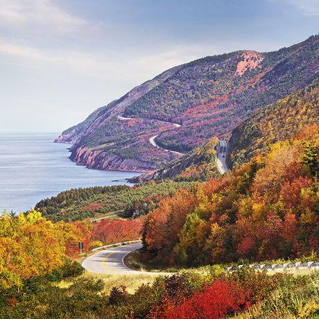 Cabot Trail im Herbst, Nova Scotia