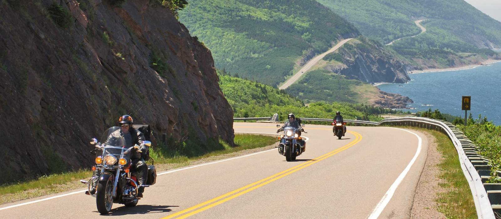 Scenics and panoramas from lookoffs on the west side of the Cabot Trail between Cheticamp and Red River