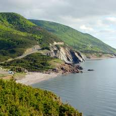 Panaormic views of the Cabot Trail in Cape Breton Highlands National Park