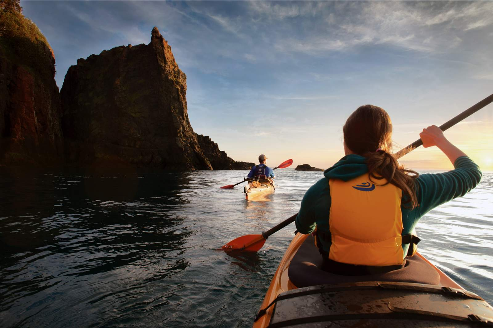 Kayaking at the Three Sisters