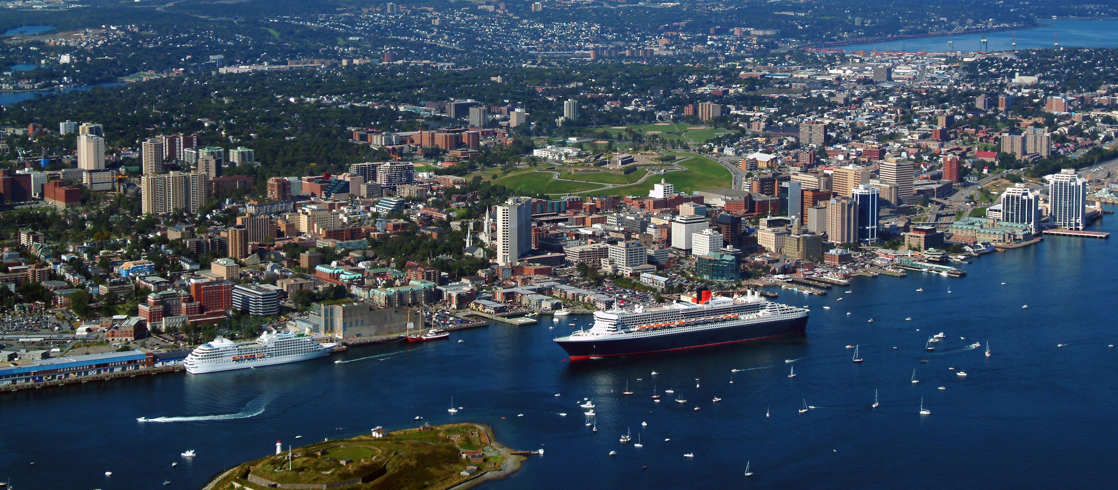 Queen Mary 2 Halifax Aerial