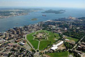 Blick auf Halifax in Kanada aus der Vogelperspektive