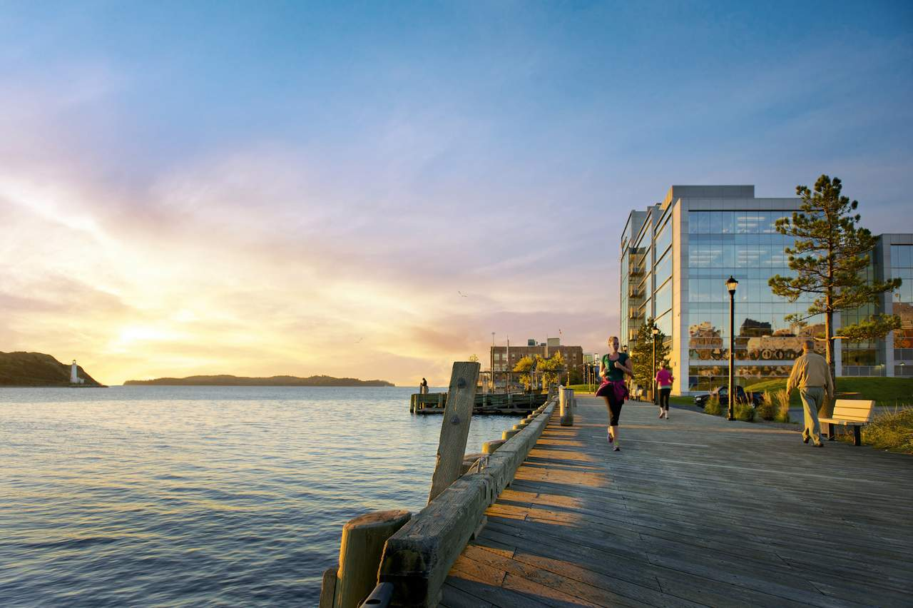 Waterfront Boardwald - Sunset