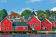 Blick auf den Hafen von Lunenburg, Nova Scotia