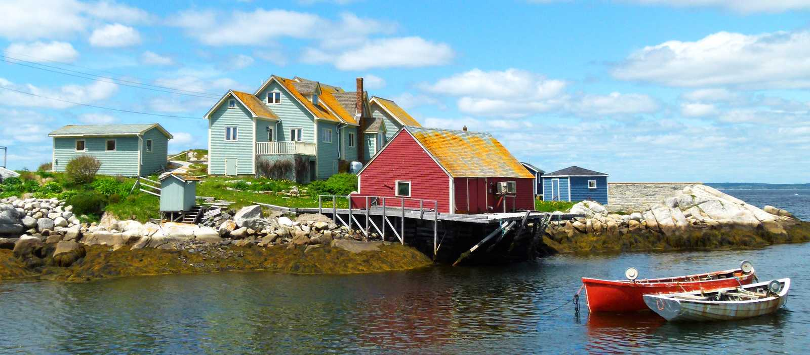 Häuser in Peggy's Cove